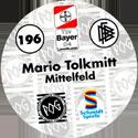 World POG Federation (WPF) > Schmidt > Bundesliga Serie 3 196-Bayer-Leverkusen-Mario-Tolkmitt-Mittelfeld-(back).