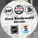 World POG Federation (WPF) > Schmidt > Bundesliga Serie 4 227-Eintracht-Frankfurt-Uwe-Bindewald-Abwehr-(back).