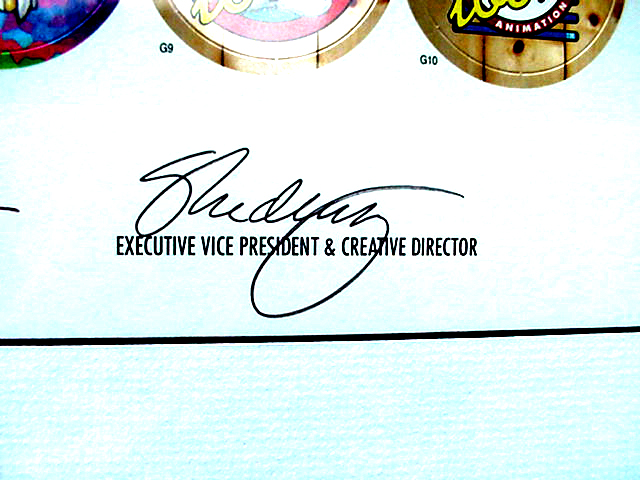 World Pog Federation POG Series 1 The Premiere Collectors Edition - Executive Vice President and Creative Director signature