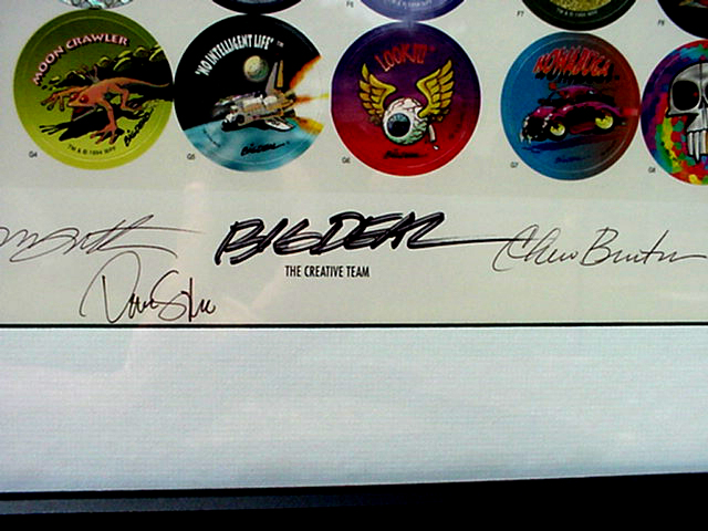 World Pog Federation POG Series 1 The Premiere Collectors Edition - The Creative Team signatures