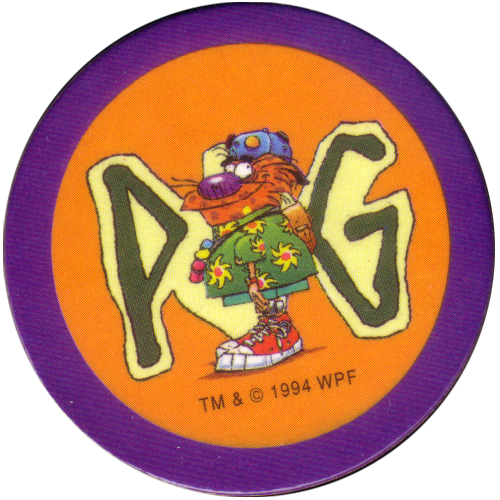 Série 1 N°25 POG Avimage 1995 The World Pog Federation