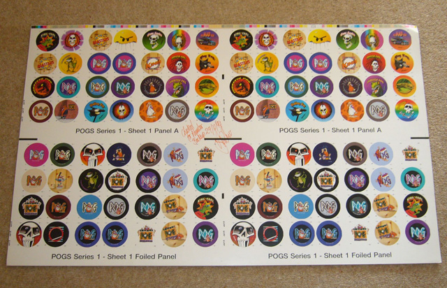 World Pog Federation POG Series 1 pre-production sample with proofing notes