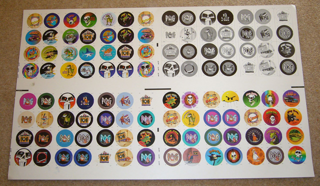 World Pog Federation POG Series 1 pre-production sample printed on thin card