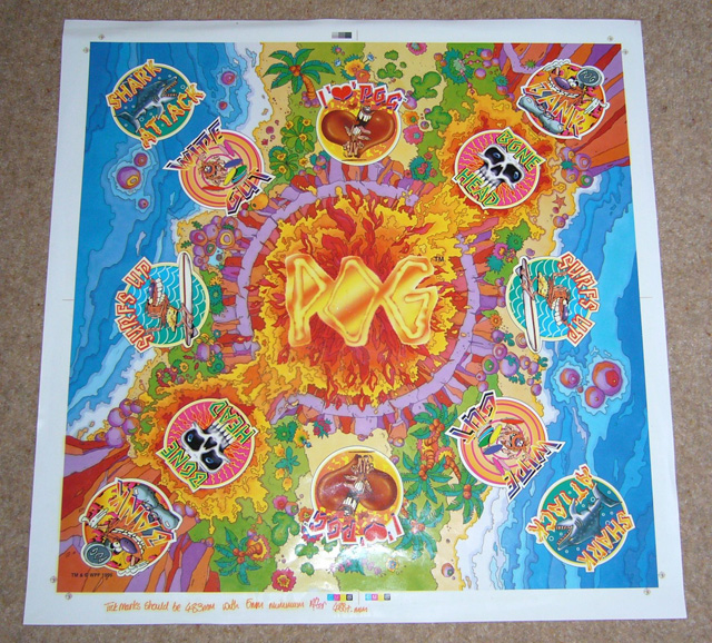 World Pog Federation POG The Game Game board pre-production sample