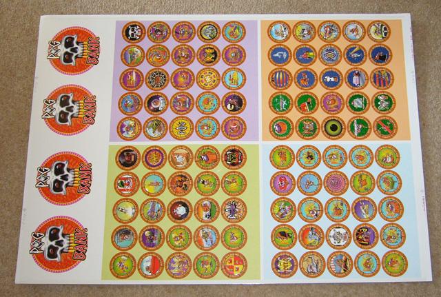 World Pog Federation POG The Game POG milkcap pieces pre-production sample
