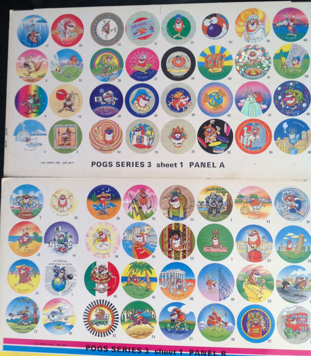 World Pog Federation POG Series 3 pre-production sample cards