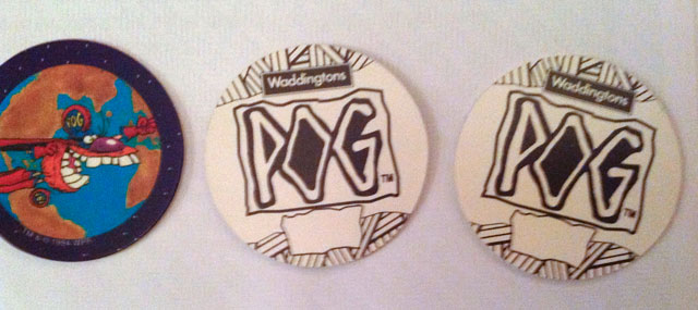 World Pog Federation POG Series 1 pre-production samples with no numbers printed on the backs