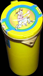 Flip Caps container tube (yellow)